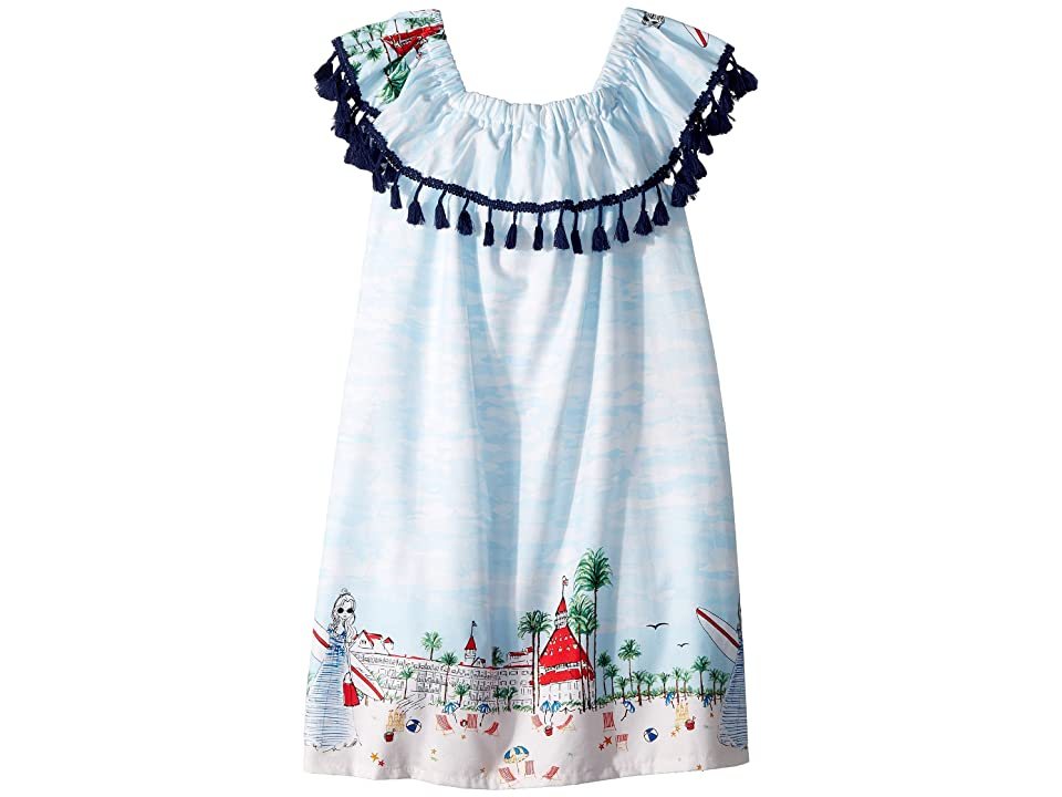 fiveloaves twofish Just Shellin On/Off Shift Dress (Little Kids/Big Kids) (White) Girl