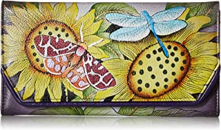 Anna by Anuschka Women's Leather Hand Painted Checkbook Wallet/Clutch