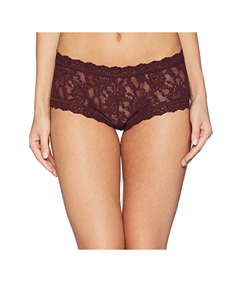 Hanky Panky Shorts Signature Lace Boyshort, HICKORY RED