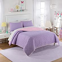 Waverly Kids 16450BEDDFULPUR Framework 90-Inch by 90-Inch Reversible Full Quilt Collection, Purple