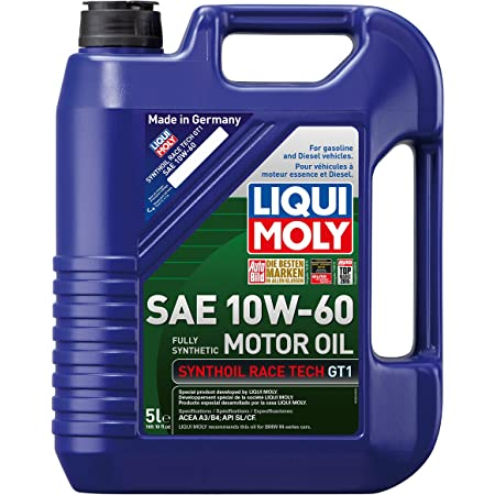 Liqui Moly 2024 Synthoil Race Tech GT1 10W-60 Motor Oil - 5 Liter