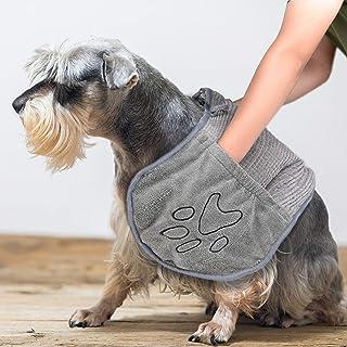حوله بزرگ سگ PETSIMPLE   حمام حیوان خانگی میکرو میکروفیبر Ultra Soft خشک کردن سریع حوله شنیل   جیب دستی حوله قابل شستشو با دوام قابل جذب   طراحی شده برای داخل و خارج از منزل   قابل شستشو