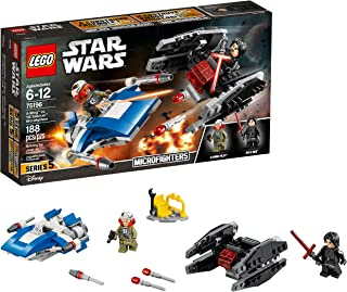LEGO Star Wars: The Last Jedi A-Wing vs. TIE Silencer Microfighters 75196 Building Kit (188 Pieces)