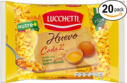 Lucchetti Codo con Huevo, 20 paquetes de 200 g