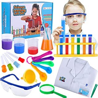 GINMIC Kids Science Experiments Kit with Lab Coat Scientist Costume Dress Up and Role Play Educational Toys Gift for Boys ...