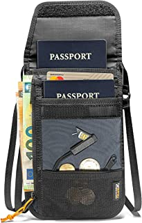 tomtoc Travel Neck Wallet Passport Holder with a Sim Card Holder and Eject Pin, RFID Blocking Stash Neck Travel Pouch to K...
