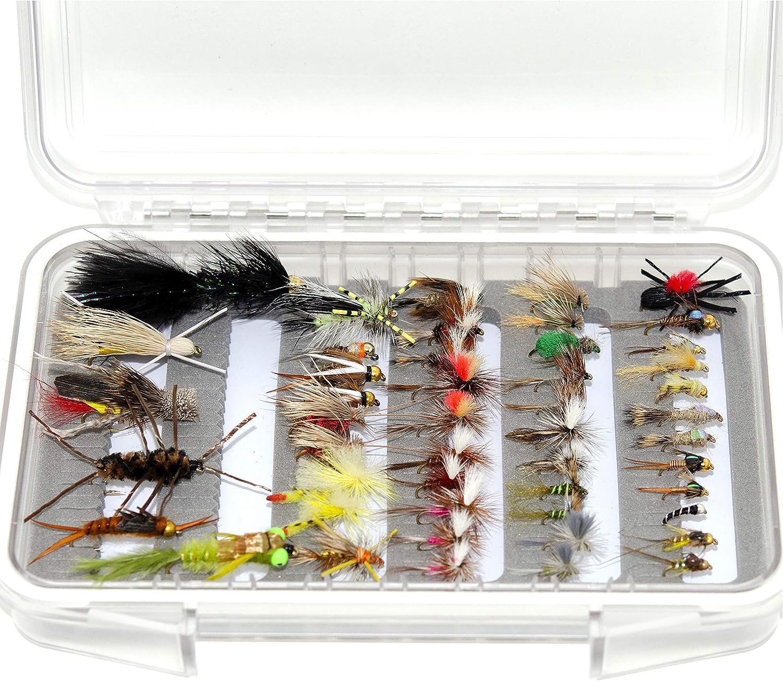 24 36 48 Assorted Trout Fishing Flies Fly Kit Bargain online shopping sale Waterproof