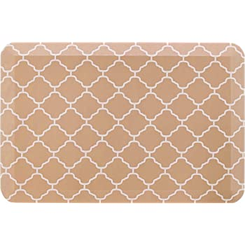 """Amazon Basics Anti-Fatigue Standing Comfort Mat for Home Kitchen and Office - 20"""" x 30"""", Tan Pattern"""