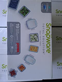 Snapware Airtight & Leakproof Pyrex Glass Food Keeper Set (19-Piece Set)