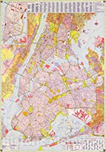 Historic 1964 Map - Street map, New York City 44in x 63in