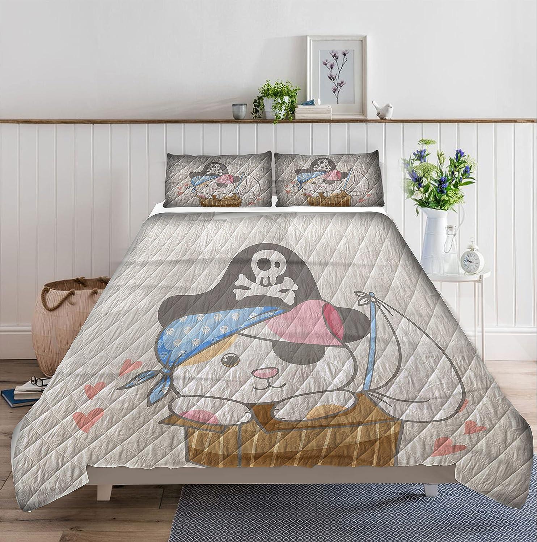 ALANCA Pirate Cat in Box 2 Set Quilt Soft Store Ranking TOP16 Li Microfiber Bedding