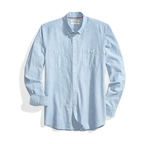 dee0cd1082a Goodthreads Men s Slim-Fit Long-Sleeve Chambray Shirt