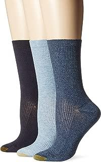 Women's Non-Binding Extended Size Rib Crew Sock 3-Pack