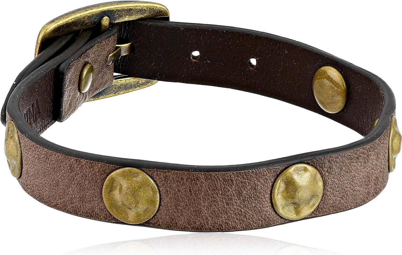 Frye Unisex Grey Clearance SALE! Limited time! Stud Soft Vintage Leather Sale item Bracelet 1 Cuff Wrap