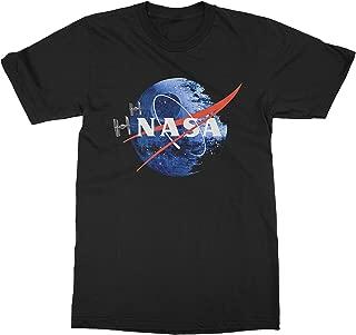 USA Threadz Death Star NASA Black T-Shirt For Men