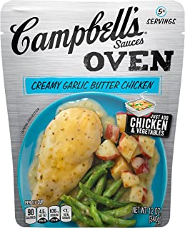 Campbell's Oven Sauces, Creamy Garlic Butter Chicken, 12 Ounce (Pack of 6)
