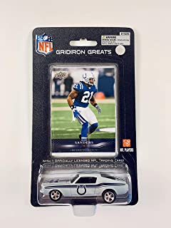 2008 UPPER DECK NFL Players REPLICA DIE CAST Car with Card 1:64 Scale 1967 Ford Mustang Fastback - Bob Sanders INDIANAPOLIS COLTS