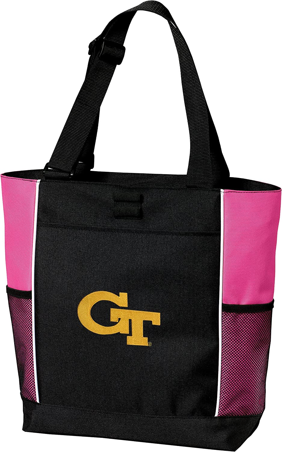 Georgia Tech Neon Pink Tote Bag Yellow Jackets HOT COLORS