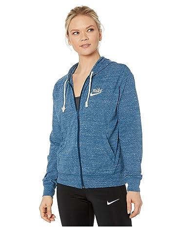 Nike NSW Gym Vintage Hoodie Full Zip (Valerian Blue/Sail) Women