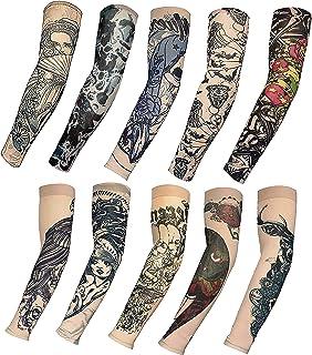Mangas Tatuajes Falso Temporal Mangas del Brazo Para Hombres y Mujeres Geniales Vestido de Lujo Accesorio Brazo Stock