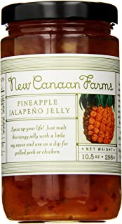 New Canaan Farms Jalapeno Jelly, Pineapple, 10.5 Ounce