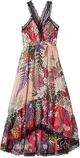 جاست كافالي المرأة جاست كافالي المرأة فقط قميص فستان طويل طباعة نيو زيلاند