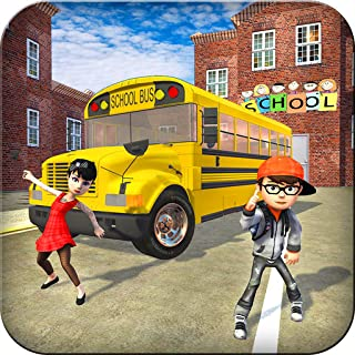 High School Crazy Bus Driving Simulator 3D: Kids Transport Simulator Driver Parking Adventure Mission Games Free For Kids 2018