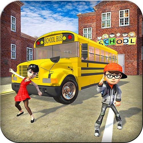 High School Crazy Bus Fahrsimulator 3D: Kinder Transport Simulator Fahrer Parken Abenteuer Mission Spiele Kostenlos für Kinder 2018
