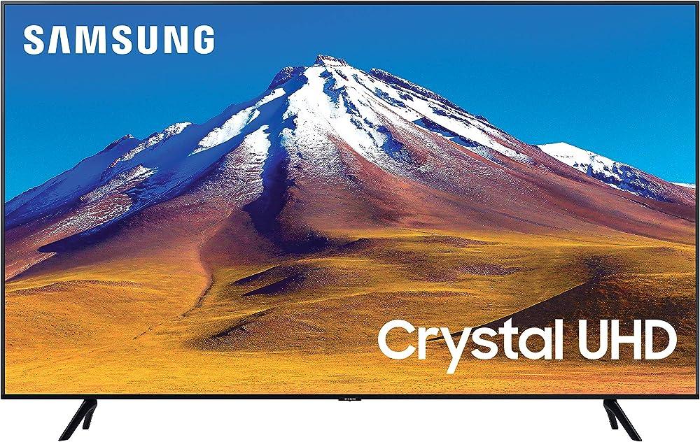 Samsung samsung tv tu7090 smart tv 43 pollici crystal uhd 4k, wi-fi, black, 2020 UE43TU7090UXZT