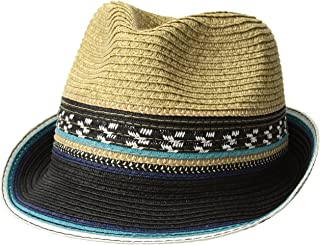 Women's Two Weave Banded Fedora