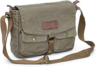 Gootium Canvas Messenger Bag - Vintage Crossbody Shoulder Bag Military Satchel