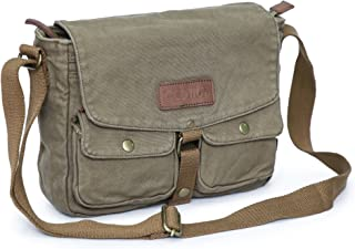 Gootium Canvas Messenger Bag - Vintage Crossbody Shoulder Bag Military Satchel