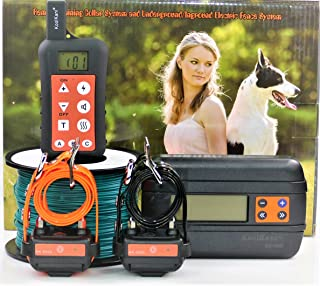 KoolKani Remote Dog Training Shock Collar & Underground/in-Ground Electric Electronic Containment Fence Boundary System Combo for Small,Medium and Large Dog (Two Dog System)