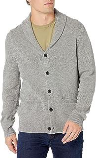 Amazon Brand - Goodthreads Men's 100% Lambswool Long-Sleeve Shawl Collar Cardigan Sweater