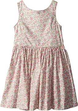 Polo Ralph Lauren Kids Floral Cotton Sleeveless Dress (Toddler)