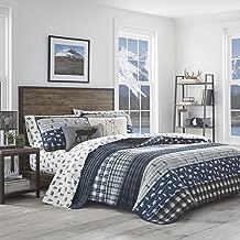 Eddie Bauer Blue Creek Plaid Quilt Set, Full/Queen, Navy