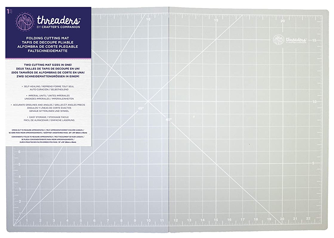 Threaders A2 Folding Cutting Mat, Grey, One Size