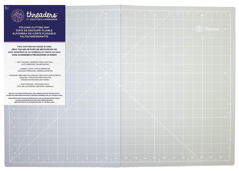 Threaders A2 Folding Cutting Mat, Grey, One Size