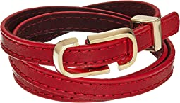 Marc Jacobs - Double J Triple Wrap Leather Bracelet