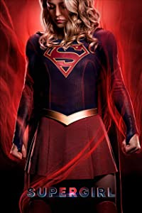 Superhero Television Series Red Print Compatible With Supergirl Poster Art Print Printing Wall Decor (S)
