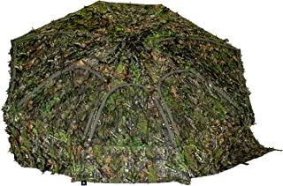 Image of Cooper Hunting 2020 Big Tom Ground Blind with 3D Leafy Mossy Oak/NWTF Obsession Pattern Designed for Still Hunting or Run and Stalk