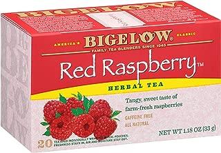 Bigelow Red Raspberry Herbal Tea 20 Bags (Pack of 6), 120 Tea Bags Total.   Caffeine-Free Individual Herbal Tisane Bags, for Hot Tea or Iced Tea, Drink Plain or Sweetened with Honey or Sugar