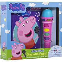Peppa Pig Sing with Peppa! Microphone & Look & Find Sound Activity Book Set
