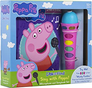 Peppa Pig - Sing with Peppa! Microphone and Look and Find Sound Activity Book Set - PI Kids
