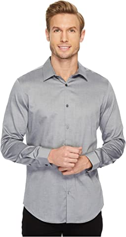 Slim Fit Long Sleeve Infinite Cool Chambray Twill Shirt