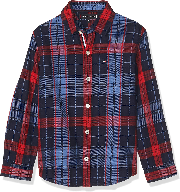 Tommy Hilfiger - Camisa Checked Shirt - Camisa Cuadros NIÑO ...