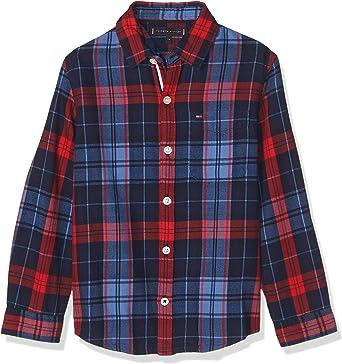 Tommy Hilfiger - Camisa Checked Shirt - Camisa Cuadros NIÑO