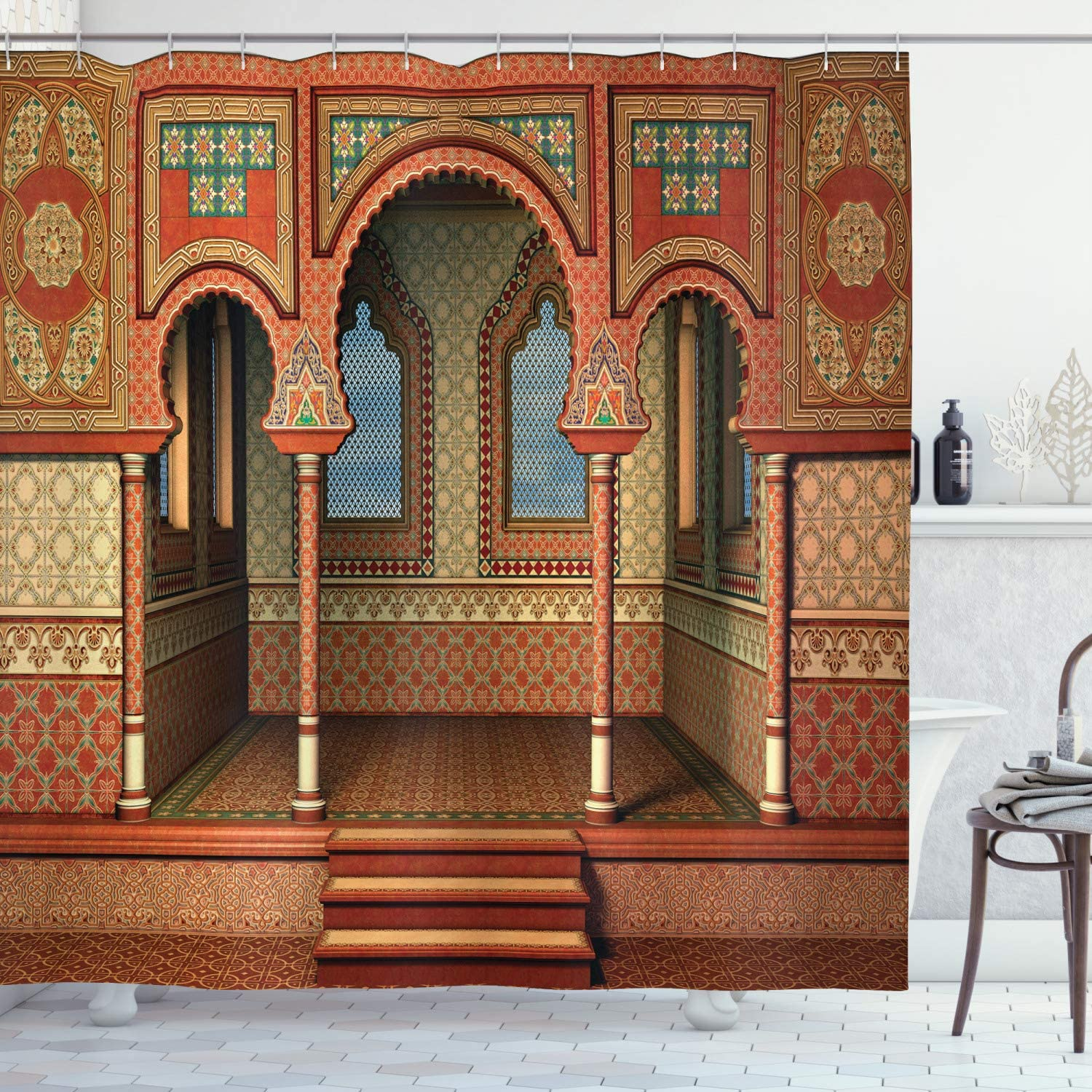 free Popular brand in the world Ambesonne Orient Shower Curtain Middle Style Oriental Eastern I