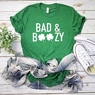 Drinking St Patty's day shirt Bad and Boozy Shirt Women's St Patricks day tee Funny St Patty tee Boozy shirt