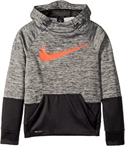 Therma Graphic Swoosh Training Pullover Hoodie (Big Kids)